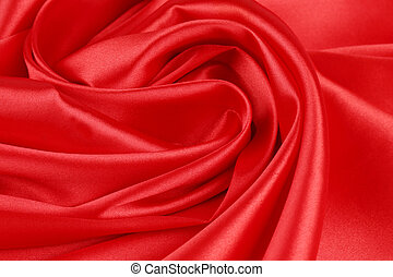 Red silk drapery Close up Whole background