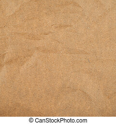 Cheap brown packaging paper - Slightly creased cheap brown...