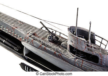 U-Boat detail - The German submarine U-47 was a Type VIIB...