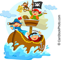 szczęśliwy, Piraci