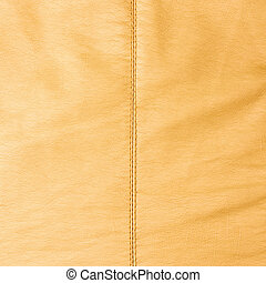 Leather texture with a seam