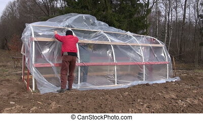 make new plastic greenhouse
