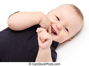 Baby laughing