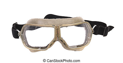White protective glasses Isolated on a white background
