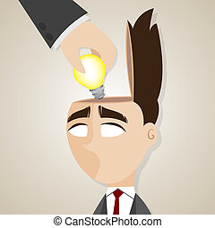 cartoon businessman stolen ideas - illustration of cartoon...