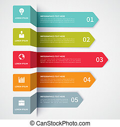 Modern minimalistic infographics banner Vector illustration