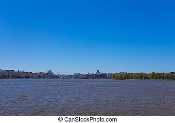 Summer panorama of Helsinki, Finland