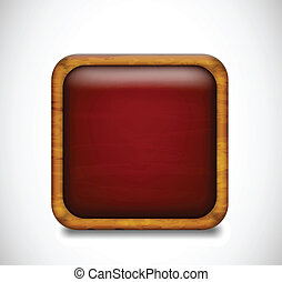 Red app icon. Vector