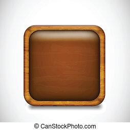 Brown app icon. Vector