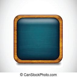 Blue app icon. Vector