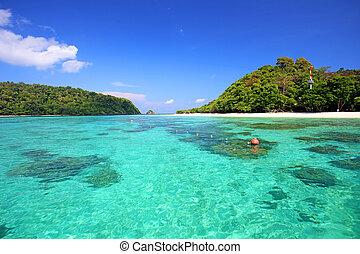 Tropical beach, Andaman Sea koh Rok Thailand