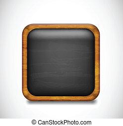 Black app icon. Vector