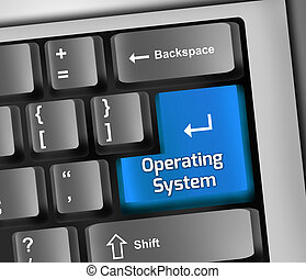 Keyboard Illustration Operating System - Keyboard...
