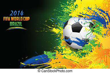Football World Cup - illustration of soccer ball in Football...