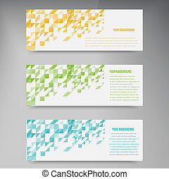 Vector triangle color 2 50214 - Abstact triangle template...