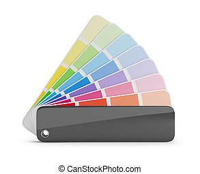 color palette - Color palette guide. 3d image. White...