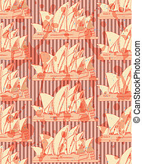 Sketch Sydney opera, vector seamless pattern - Sketch Sydney...