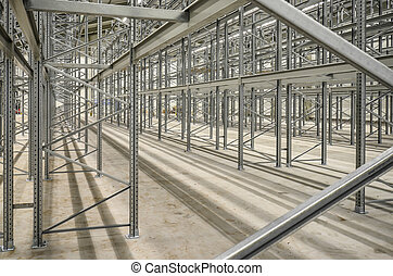 high bay steel shelf - new building lot of high bay stock...