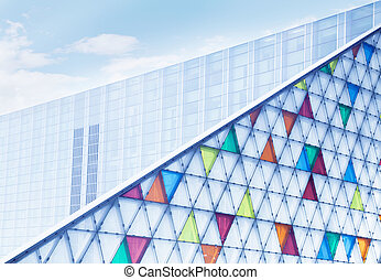 modern glass building skyscrape - modern glass building...