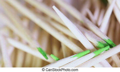 Toothpicks in bulk - Toothpicks disorderly slide rotate on...