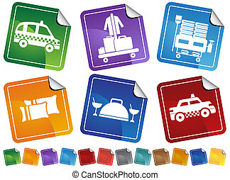 Hotel Service Sticker Set - Collection of hotel and spa...