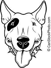 Bull Terrier - Illustration of cartoon Bull Terrier