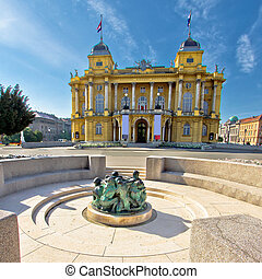 Croatian nationa theater in Zagreb, Croatia