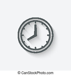 clock face - vector illustration eps 10