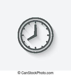clock face - vector illustration. eps 10