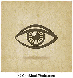 eye symbol old background - vector illustration. eps 10