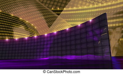 Disco virtual set stage dark gold - dj disco stage virtual...
