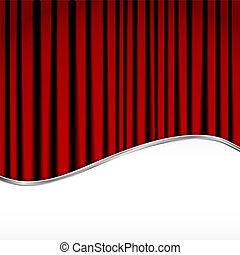 Background with red velvet curtain