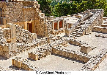 Palácio, Knossos, crete, Grécia