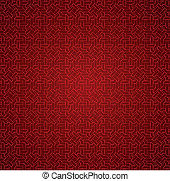 Red abstract ornamental background