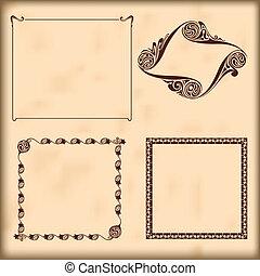 Vector decorative frames.  Elements for design.