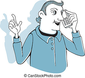 Man with cell phone
