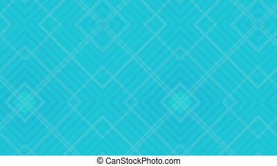 Blue retro patterns and shapes loop