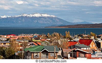 Puerto Natales, Patagonia, Chile - Strait Of Magellan,...