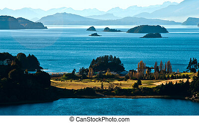 Nahuel Huapi lake, Patagonia Argentina, from Panoramic Point...