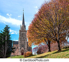 Cathedral of the city of Bariloche, Argentina - Cathedral of...