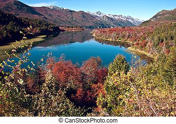 Autumn in Bariloche, Patagonia, Argentina - Autumn Colors in...