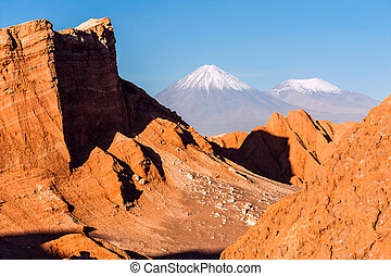 Volcanoes Licancabur and Juriques, Atacama, Chile