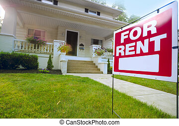 Home For Rent Sign