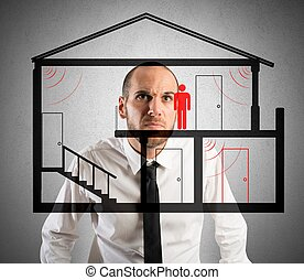 Thief in the house - Businessman controls the thief in the...