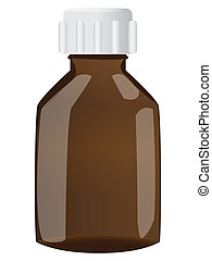 Brown bottle with cap