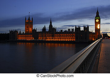 Parliament houses at sunset