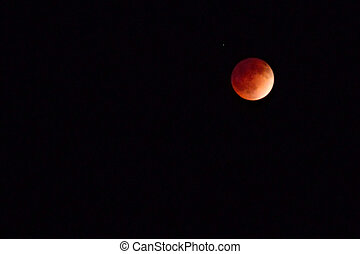 Blood moon - Photograph of the blood moon from April 15,...