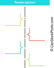 Vertical timeline inforchart - Isolated simple colorful...
