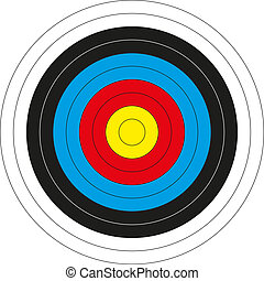 Colorful bullseye target - Isolated colorful bullseye target...
