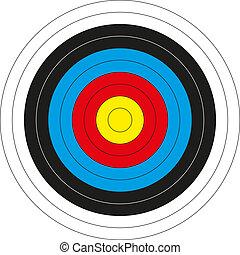 Colorful bullseye target - Isolated colorful bullseye target...